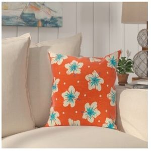 Bay Isle Home  Floral Throw Pillow